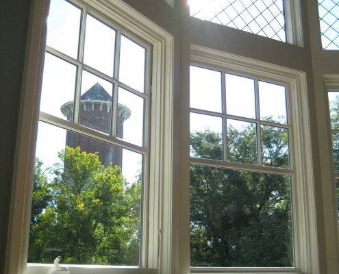 Arched Top Leaded Glass Windows