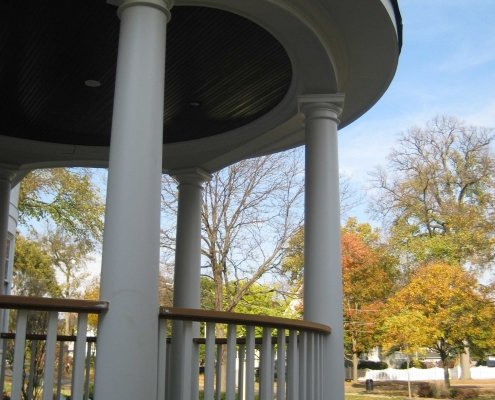 Round Covered Front Porch